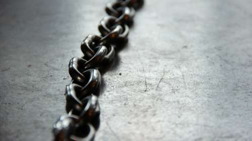 Chain Link Metal Strong Connect Connected
