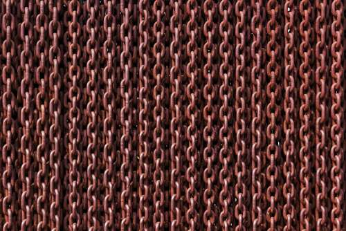 Chain Rusty Links Iron Metal Rust Texture