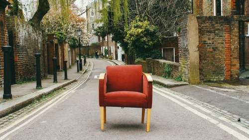 Chair Couch Furniture Road Sofa Street Whimsical