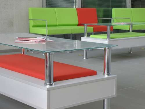 Chair Tables Glass Concrete Modern Architecture