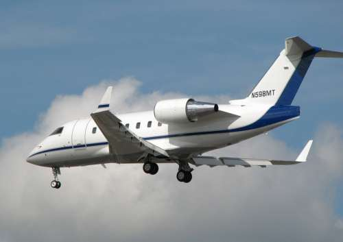 Challenger Bombardier Landing Aircraft Airplane