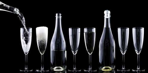 Champagner Toasting New Year'S Eve Drink Crystal