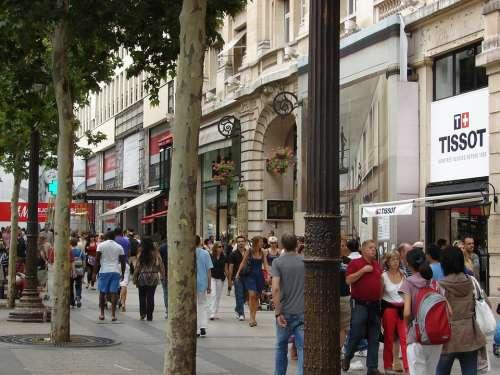 Champs-Élysées Paris France Avenue Capital People