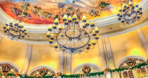 Chandelier Bellagio Las Vegas Balcony Ceiling