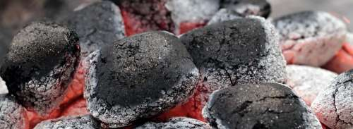Charcoal Embers Barbecue Carbon Hot Fire Heat