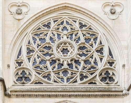 Château De Pierrefonds Chapel Rose Window Oise