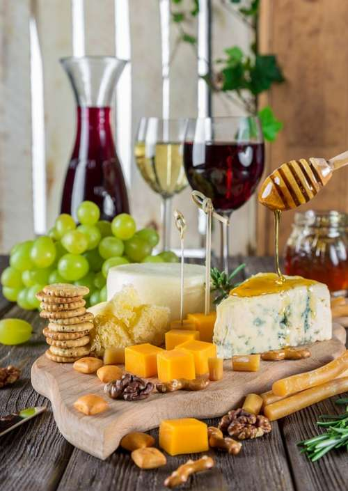 Cheese Cheese Plate Rustic Snacks Gastronomy