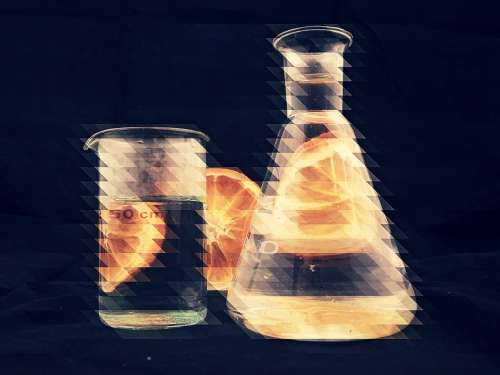 Chemistry Water Orange H2O Glass Science