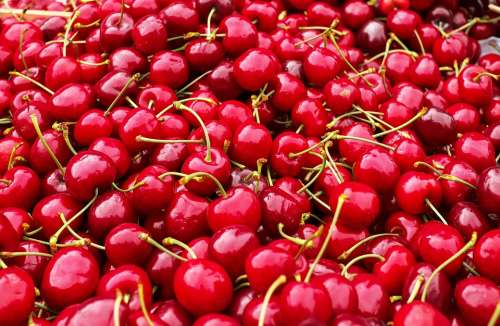 Cherries Sweet Cherries Heart Cherries Fruit Red
