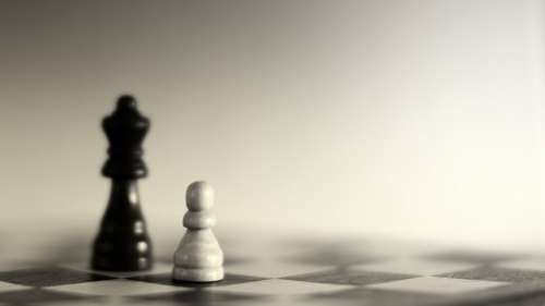Chess Black White Play Strategy Think King Bauer