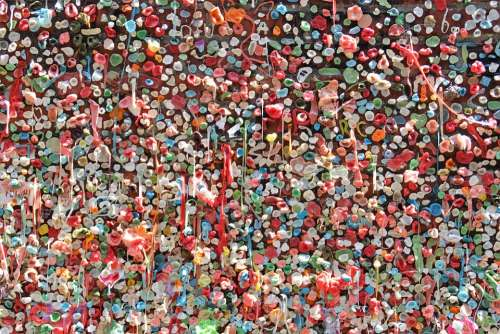 Chewing Gum Seattle Gum Chew Stick Wall Tourist