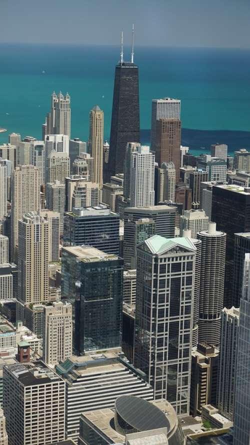 Chicago Cityscape Architecture Skyscrapers Skyline