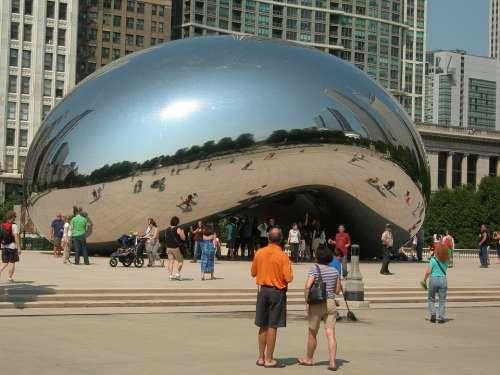 Chicago Travel Landmark Sculpture