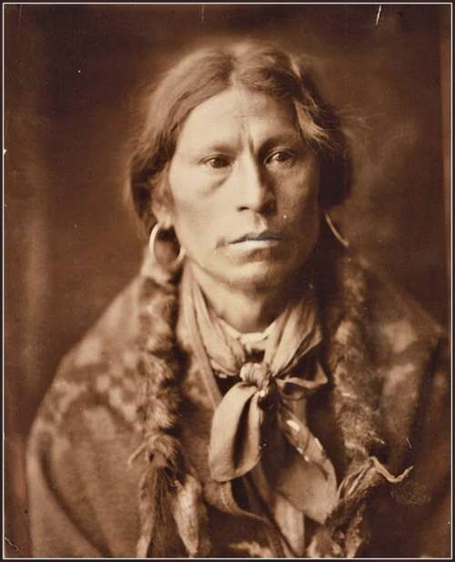 Chief Garfield Indian Old Vintage Sepia Antique