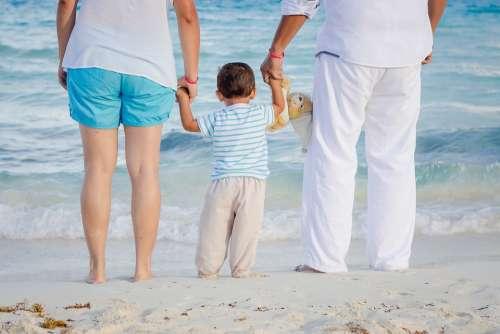 Child Family Love Beach Holidays Vacation