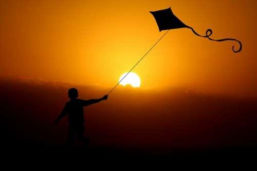 Child Boy Dragon Dragon Flight Wind Dragon Fly