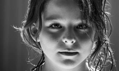 Child Girl Face Eyes Pretty Portrait Cheeky