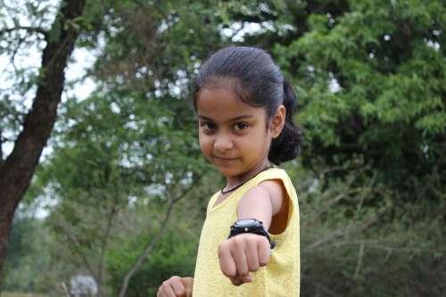 Child Girl Fist Fist Pump