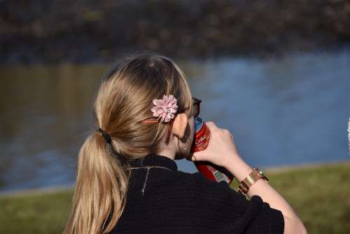 Child Girl Person Young Drink Flower Pretty