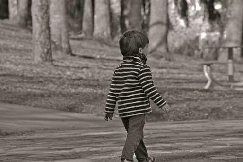 Child Boy Person Pullover Striped Park