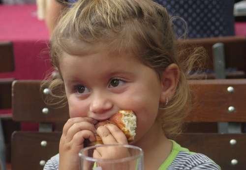 Child The Little Girl Bud Eating Tasty Appetite