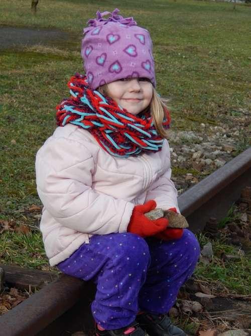 Child Baby Girl Adelka Track Landscape Smile