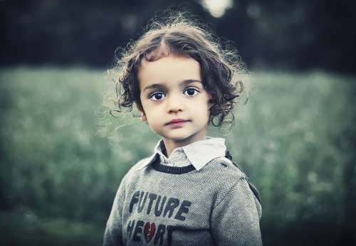 Child Model Beauty Girl Curly Hair Female Cute