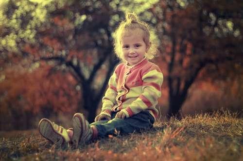 Child Children Happy Girl Female Cute Childhood