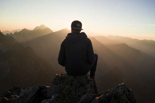 Chill Guy Hiker Mountains Mountain Range Nature