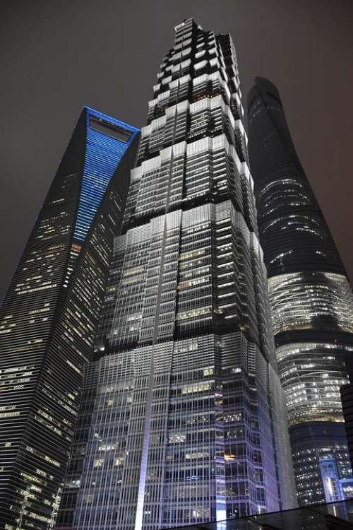 China Shanghai Skyscraper Skyline Skyscrapers