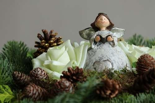 Christmas Angel Advent Figure Decoration