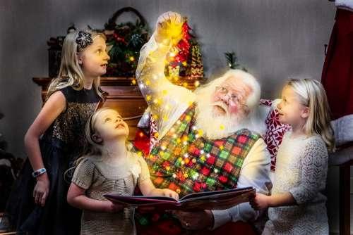 Christmas Storybook Santa Santa Claus Joy Holiday