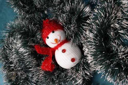 Christmas Snowman Toys Cute Holiday Xmas Happy