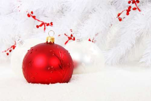 Christmas Bauble Red Ball Celebration Christmas