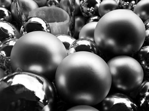 Christmas Baubles Christmas Tree The Background