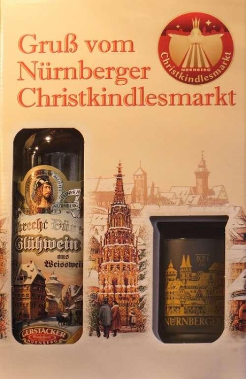 Christmas Market Nuremberg Mulled Claret Bottle