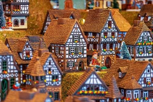 Christmas Motif Building Fachwerkhäuser Miniature