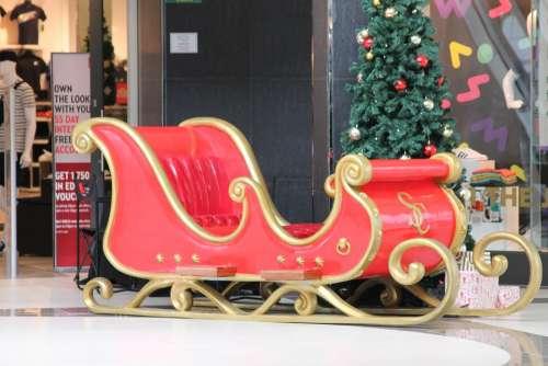 Christmas Sleigh Christmas December Holiday Lights