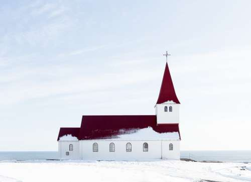 Church Snow Winter Building White Cold