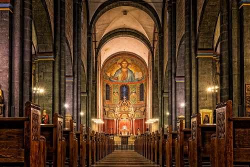 Church Dom Chapel Altar Religion Church Pews