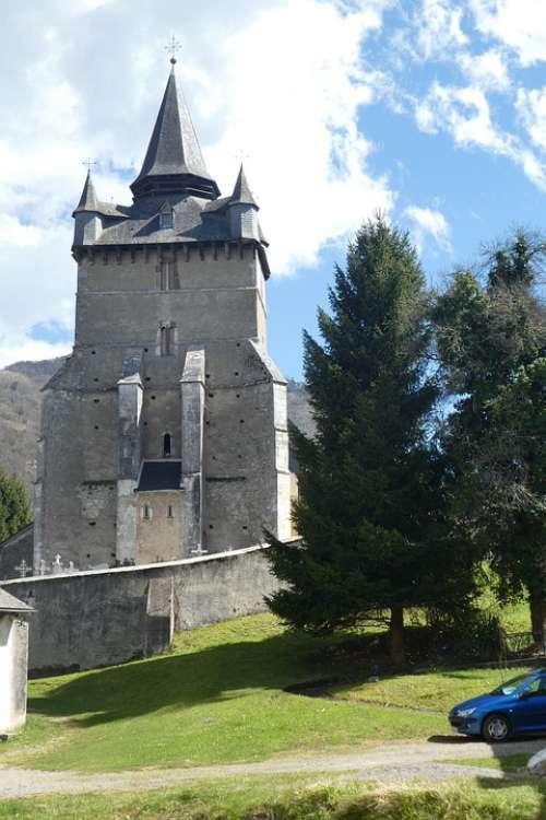 Church Bagnères-Baudéan Pyrénées Mountain