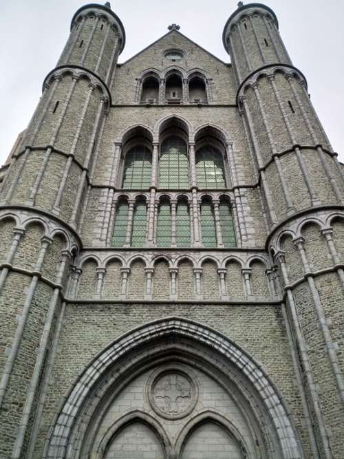 Church Bruges Building Historically Architecture