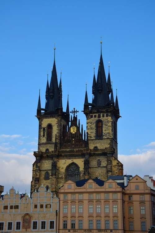 Church Prague Architecture Medieval Czech Republic
