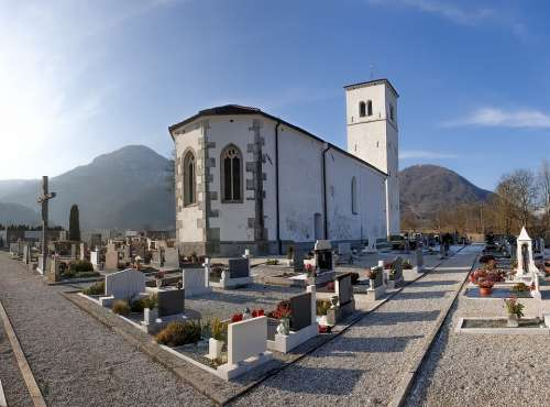 Church Graveyard Landscape Cemetary Churchyard
