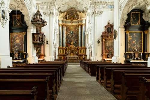 Church Inside Architecture Jesuit Church Solothurn