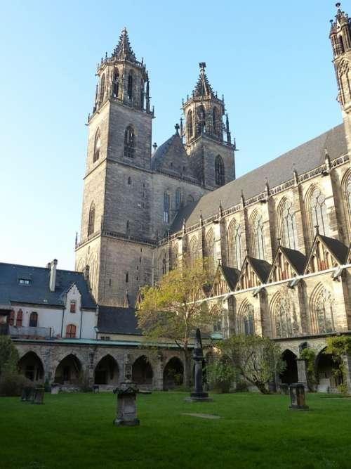 Church Dom Building Magdeburg Saxony-Anhalt Gothic