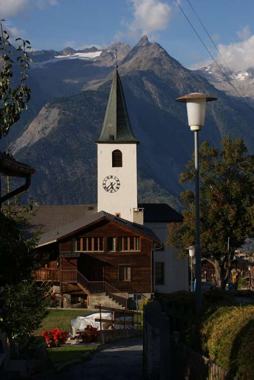 Church Culture Valais Alpine Switzerland