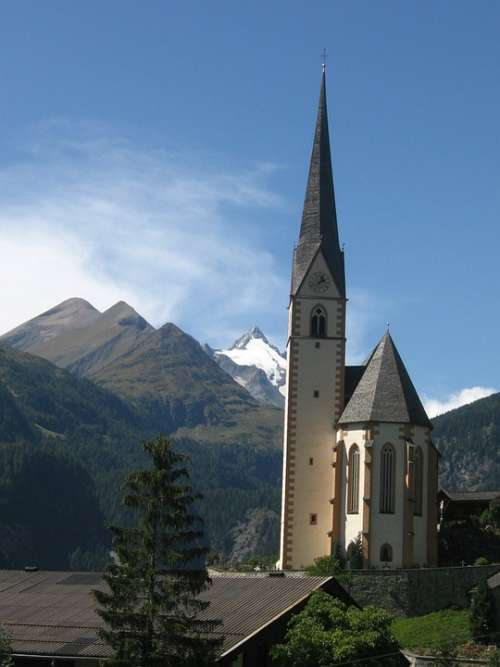 Church Mountains Holy Blood Grossglockner Steeple