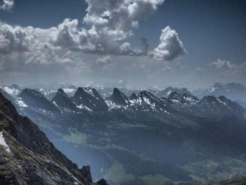 Churfirsten Mountains Alpine St Gallen Switzerland