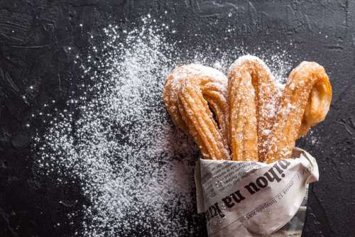 Churros Baking Cookies Dessert Confectionery
